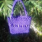 HANDMADE MACRAME PURSE WITH BEADS