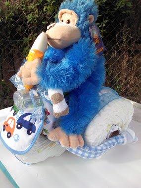 HANDMADE BABY SHOWER TRICYCLE DIAPER CAKE