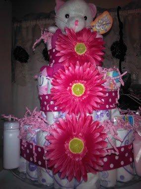3 TIER DIAPER CAKE MEOW