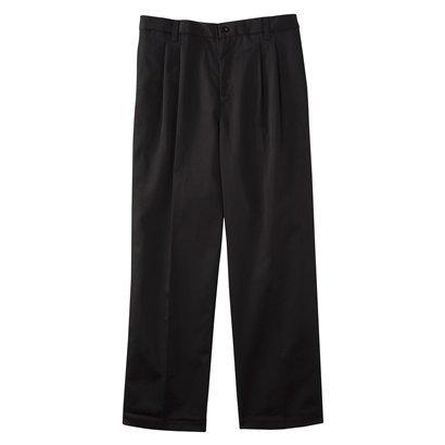 Young Mens' Uniform Pleat Front Pant - Black
