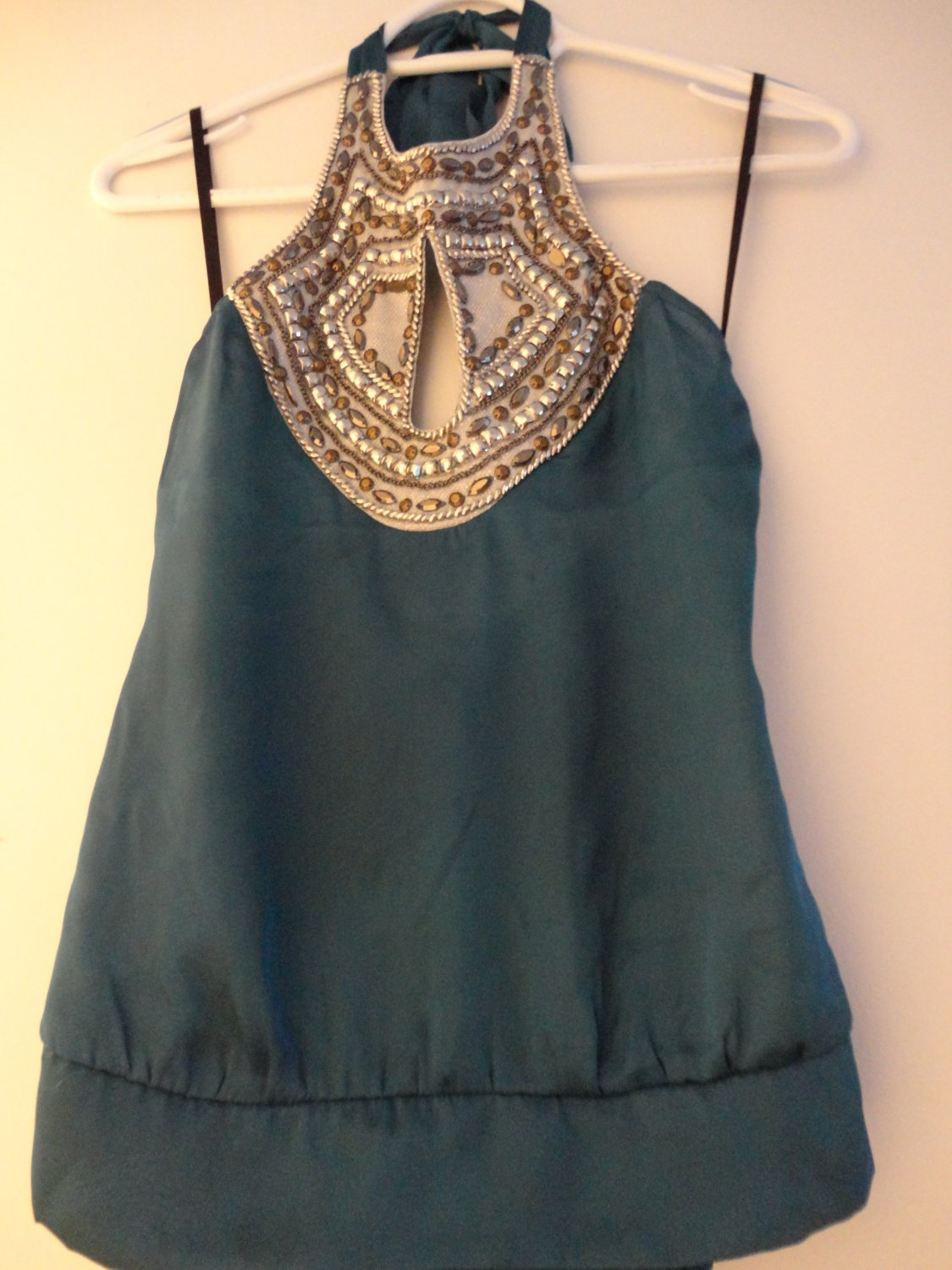 Mixed Embellished Halter Top