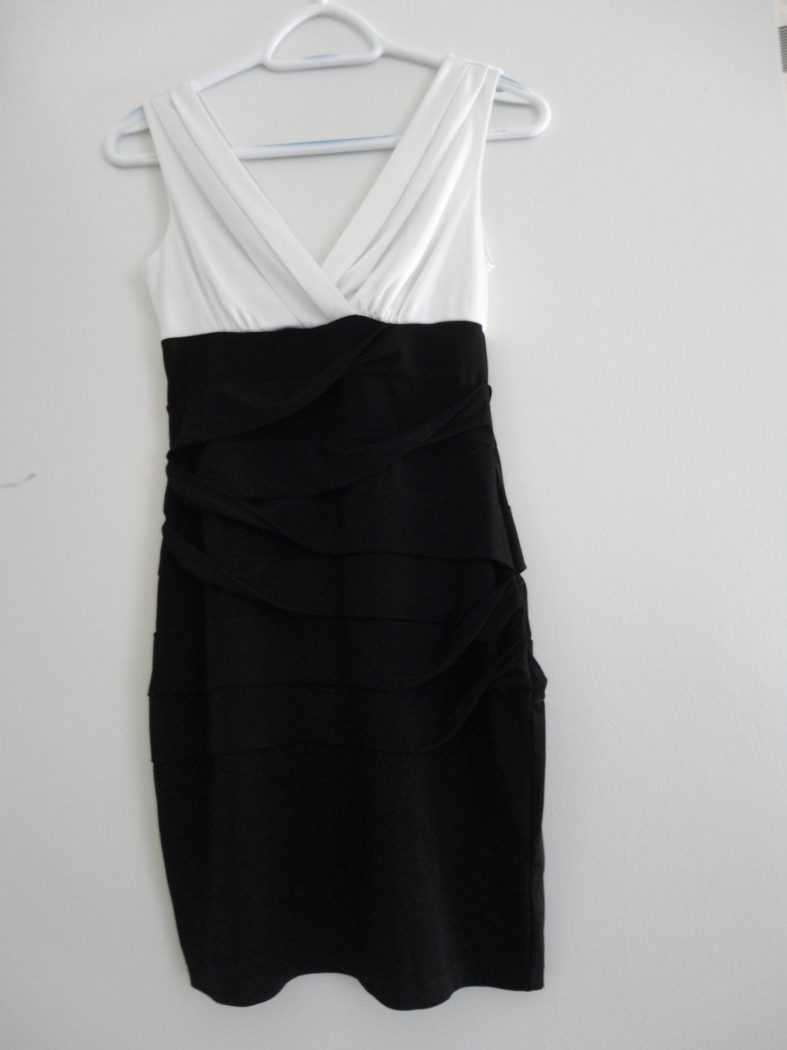 Sweet Storm-Black White Stretch Dress-Small Size
