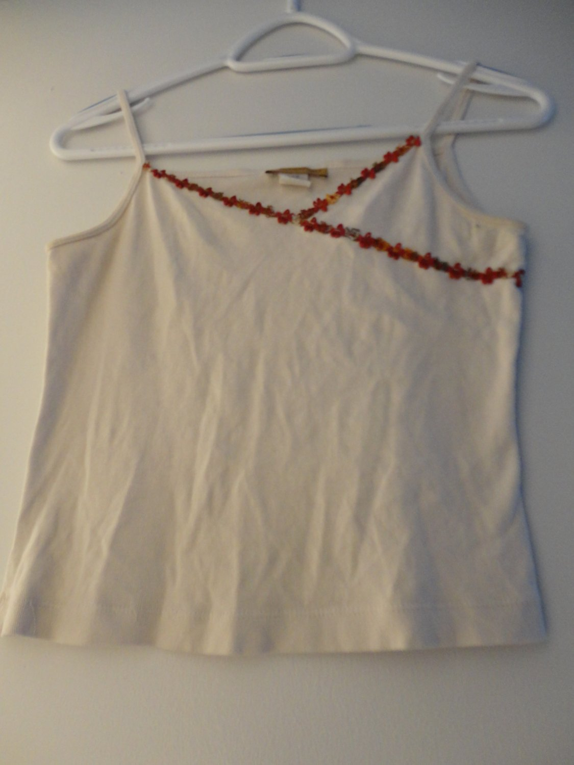 White Cotton Stretch Spaghetti