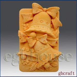 2D Silicone Soap Mold - Jingle Bells