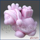 3D Silicone Soap / Candle Mold - Dear Turtle deer with gifts