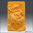 2D Silicone Soap Mold - Santa in the Chimney