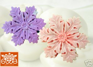 Silicone Soap / Floating candle mold - snowflake #1