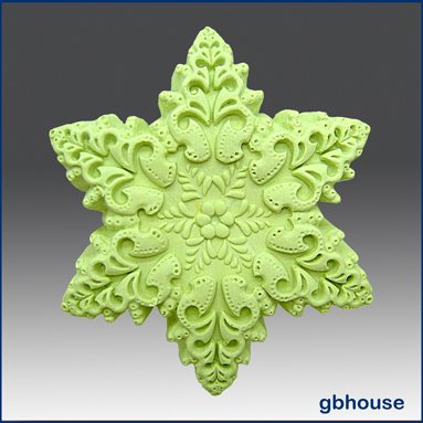 Silicone Soap / Floating Candle Mold � Snowflake #3