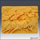 2D Soap Silicone Mold – Rudolph Pulling Santa in Sleigh
