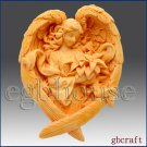 2D Soap Silicone Mold – Angel of the Seasons- Winter