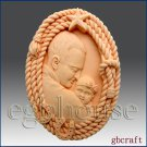 2D Silicone Soap Mold – Dad and Child in Rope Frame