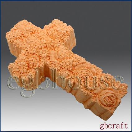 2D Silicone Soap Mold � Ornamental Rose Cross