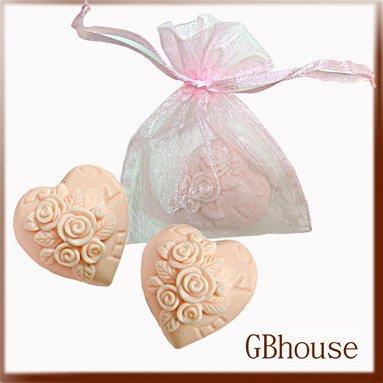 Silicone soap mold - Wedding -Mini Rose Heart-2cavities
