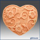 2D Crochet Heart - Silicone Soap Mold