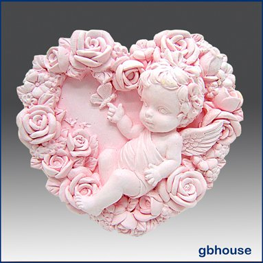 2D Silicone Soap Mold � Baby Rose Fairy