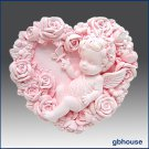 2D Silicone Soap Mold – Baby Rose Fairy