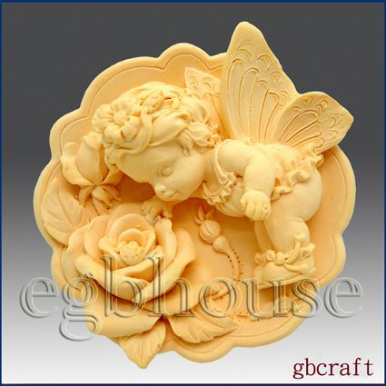2D Silicone Soap Mold � Fairy Girl Rosie