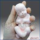 3D Silicone Soap Mold-Lifelike Baby Ethan(2 parts assembled mold)
