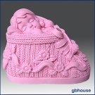 3D Silicone Soap and Candle Mold – Baby Girl in Bootie