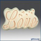 Silicone Soap Mold Great Impressions Ripple &quot;Love&quot;