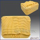 2D Silicone Soap/Candle Mold - The Flag of the United States - free shipping