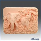 2 D Silicone Soap Mold – Enchanting Elephants