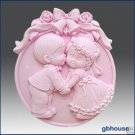 Silicone Soap Mold  Wedding Kiss