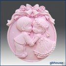 Silicone Soap Mold – Wedding Kiss