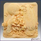 2D Silicone Soap Mold – Kissing Couple