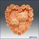 Silicone Soap Mold – Kitty Kat Heart