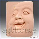 2D Silicone Soap Mold – Laughing Buddha Close-up