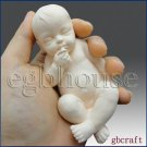 3D Silicone Soap Mold-Lifelike Baby Gino (2 parts assembledmold)