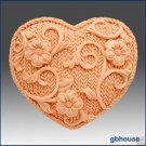 Crochet Heart - Silicone Soap Mold