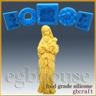 2D Food Grade Silicone Mold - Madonna holds baby and lamb