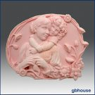 Silicone Soap Mold  Oval  Child Hugging Mother