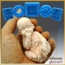 3D Silicone Soap/sugar craft/fondant/chocolate/candy Mold-Baby sucking fingers