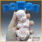 3D Silicone Soap/sugar/fondant/chocolat Mold-Lifelike Baby Ethan-free shipping