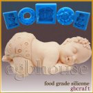 2D Silicone Soap/sugar/fondant/chocolateMold-Welcome to our family-New Baby Girl