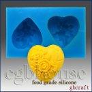 Food Grade Silicone mold - Wedding -Mini Rose Heart