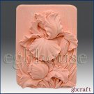 2D Silicone Soap Mold – Ruffled Iris