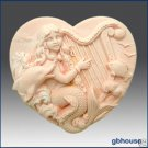 Silicone Soap Mold – Hattie, Mermaid of the Harp