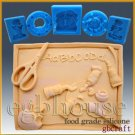2D Silicone Soap/sugar craft/fondant/chocolate/candy Mold - Back to School