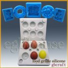 3D Silicone chcoloate/candy Mold - mini egg - 6 cavities