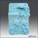 2D Silicone Soap Mold -   Dolphin Sea and Landscape