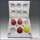 3D Silicone Soap/Candle Mold - mini egg - 6 cavities