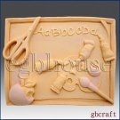2D Silicone Soap Mold - Back to School - Free Shipping