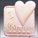 2D Silicone Soap Mold  - I love Mom square