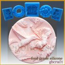 2D Silicone Soap/sugar/fondant/chocolate Mold - Hummingbird in Hibiscus Garden