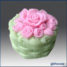 3D Silicone Soap and candle Mold – Rose Cake