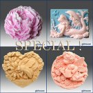2D/3D Soap silicone mold-Peony,Mermaid,Fairy,Bee